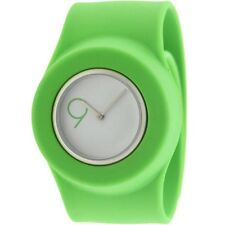 $110 Easy Slap On Fashion Cloud 9 Analog  Watch (green)Battery not included