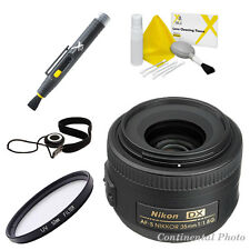 Nikon AF-s 35mm f/1.8G DX Nikkor Lens + 52mm UV Filter + 8 Pc Value Bundle