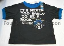 """""""NWT"""" The Children's Place """"It's Never Too Early to be Rock Star"""" Shirt 6-9 M"""