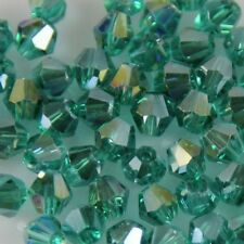 100pcs Swarovski 4mm Bicone Crystal Peacock-green AB beads D A-19#