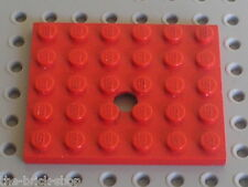 LEGO VINTAGE red Plate 5 x 6 with Hole ref 711 / Set 374 310 377 372 331 332 371