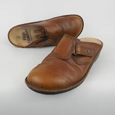 Finn Comfort Orb Women's Brown Leather Clogs Size 39 US 8 - 8.5  Adjustable