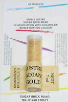 Sugarflair Radiant Gold Lustre Dust Powder 7ml Edible Sparkly Food Colour Tint