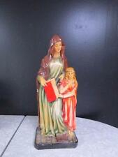 LOVELY VINTAGE ST. ANN with MARY STATUE w/ ORIG LABEL ~DEPOSITATO ~ITALY