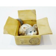 'Anyone out There' Cat in Boxes Figurine Made from polyresin