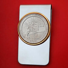 2013 Maryland Fort McHenry National Monument Quarter Coin Two Toned Money Clip