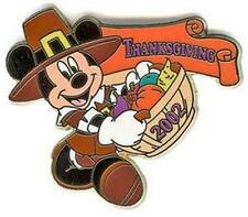PILGRIM MICKEY Mouse CARRYING BASKET THANKSGIVING 2002 Holiday DISNEY PIN