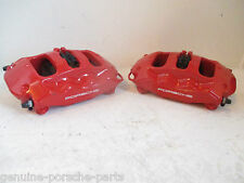 Genuine Porsche 970 Panamera Turbo Rear Brembo Caliper Set in Red - NOS
