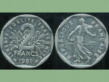 2 francs 1981 NICKEL  semeuse   ( bis )