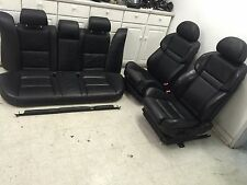 BMW OEM E60 M5 //M 06-2010 SET OF ACTIVE SPORT LEATHER HEATED SEATS BLACK SEAT