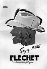 ▬► PUBLICITE ADVERTISING AD Facon Marrec Chapeau Fléchet 1951