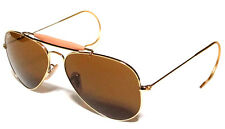RAY BAN 3030 58 OUTDOORSMAN GOLD ORO PERSONALIZZATO B15 BROWN MARRONE REMIX