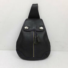 Kenzo black leather backpack vtg