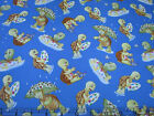 1 Yard Quilt Cotton Fabric- VIP Exclusive Turtle Theology Turtles on Medium Blu