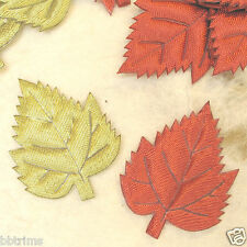 "US SELLER - 100pc x 1.5"" Padded Satin Maple Applique leaves/leaf for Card ST109C"