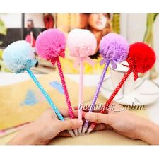 1Pc Lovely Ball-point Pen Women Girl Bowknot Plush Chuzzle Pattern(Random Color)