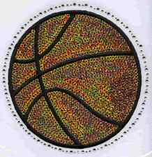 Iron On Transfer Applique Rhinestone and Sequin Orange Basketball