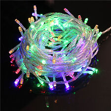 32ft 100 LED Christmas Tree Fairy String Party Lights Lamp Waterproof Multicolor