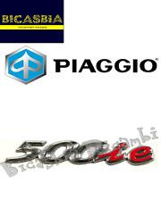 """656750 - TARGHETTA """" 500 IE """" PER FIANCATA LATERALE PIAGGIO 500 BEVERLY CRUISER"""