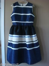 $498 NWT Kate Spade Rich Navy Holiday Stripe Dress Size 6