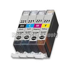 4 Color Ink set for Canon CLI-221 BK CMY CLI 221 Pixma MP620