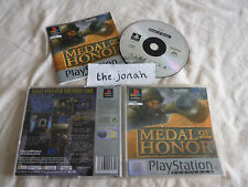 Medal of Honor PS1 (COMPLETE) honour war platinum Sony PlayStation rare