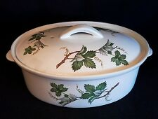 Vintage Villeroy & Boch made in Luxemburg Casserole Dish with Vine Motif