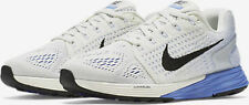 WOMEN'S NIKE LUNARGLIDE 7 RUNNING SHOES SIZE 6.5 WHITE/BLUE FLYKNIT 747356 104