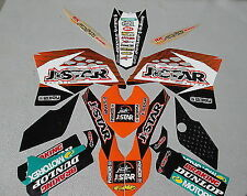 KTM SX/SXF 125-450 2007-2010 JDR JSTAR Full team graphics + plastic kit EJ2020
