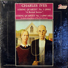 CHARLES IVES String Quartet No.1/No.2. LP. Kohon Strings. TURNABOUT. 1968