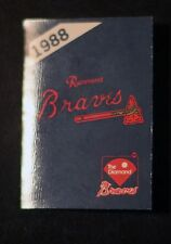 1988 Richmond Braves Bud Light Pocket Schedule ex