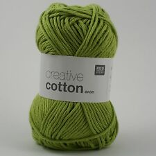 Rico Creative Cotton Aran - 100% Cotton Knitting & Crochet Yarn - Pistachio 41