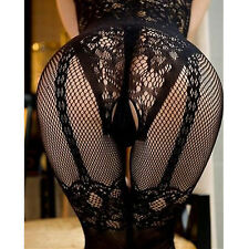 1x Woman Sexy Fishnet Open Crotch Stockings Crotchless Sheer Body Dress Lingerie