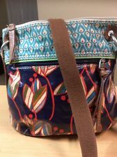 FOSSIL KEY PER COATED CANVAS CROSSBODY Shoulder BAG