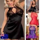 Womens Sexy Babydoll Plus Sz Lingerie size 8-18 Chemise Lace Satin Nightwear