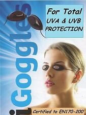 2 Pairs of GOGGLES UV EYE Protection Slim Line Sunbed Solarium TANNING iGOGGLES