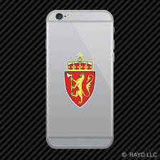 Norwegian Coat of Arms Cell Phone Sticker Mobile Norway flag NOR NO