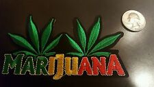 "Marijuana embroidered iron on Patches patch 4"" x 2.5"