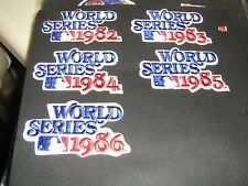 VINTAGE LOT OF 5 WORLD SERIES PATCHES RARE RARE