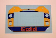 GOLD Kart Stile Gel Sticker Per Mychron 5-Kart
