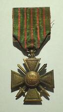 DECORATION - medaille CROIX DE GUERRE 1914-18 (4769J)