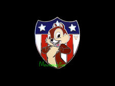 Chip and Dale Chipmunk CHIP USA American FLAG Shield Disney 2012 Pin