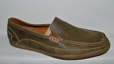SKECHERS SZ 13 M 45 BROWN SUEDE LEATHER MOCCASINS LOAFERS COMFORT SHOES
