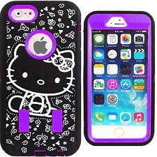 Purple & Black Hello Kitty Case for iPhone 6S Plus / 6S Plus Protector Cover