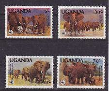 v1939 Uganda/ WWF 1983 Elefanten  MiNr 361/64 A **