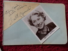 ACTRESS / ENTERTAINER BETTY JUMEL AUTOGRAPH + PHOTO