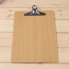 Quality Wooden Clipboard With Hanging Hole Menu A4 Clip Board Office Hardboard