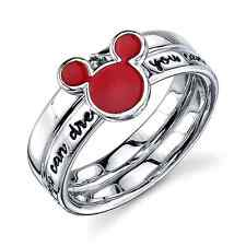 DISNEY MICKEY MOUSE STERLING SILVER 'IF YOU CAN DREAM IT'  YOU CAN DO IT' RING 6