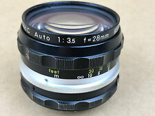Nikon 28mm f/3.5 NIKKOR-H.C Auto Non-Ai Manual Focus Lens SN851335 Clean