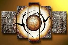 YH008 No framework 5PCS Modern Abstract Art Oil Painting Pure hand-drawn